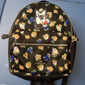 Mini coach bagpack purse